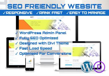 Create SEO Optimized Responsive Website to Rank Fast