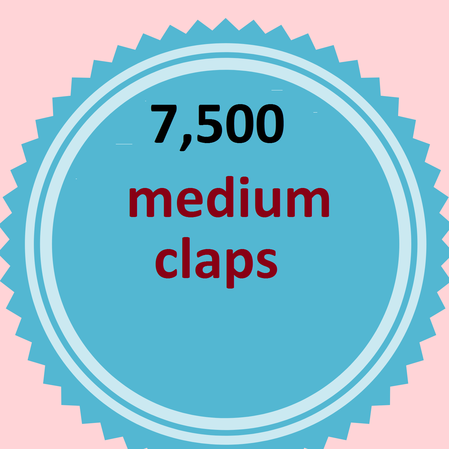 Provide you 7,500 Worldwide medium claps within few hours complete