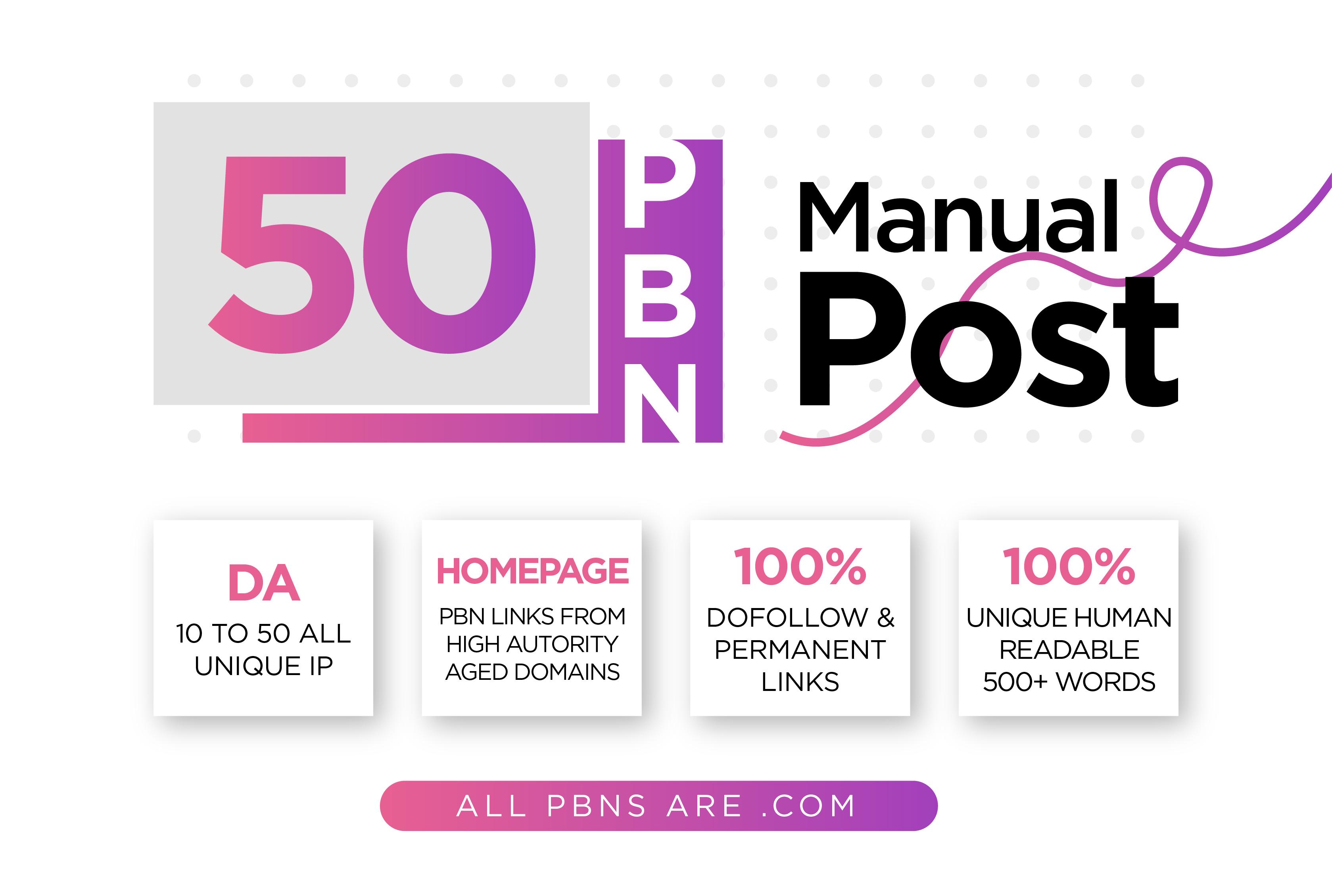 Build 50 permanent homepage pbn backlink in google ranking