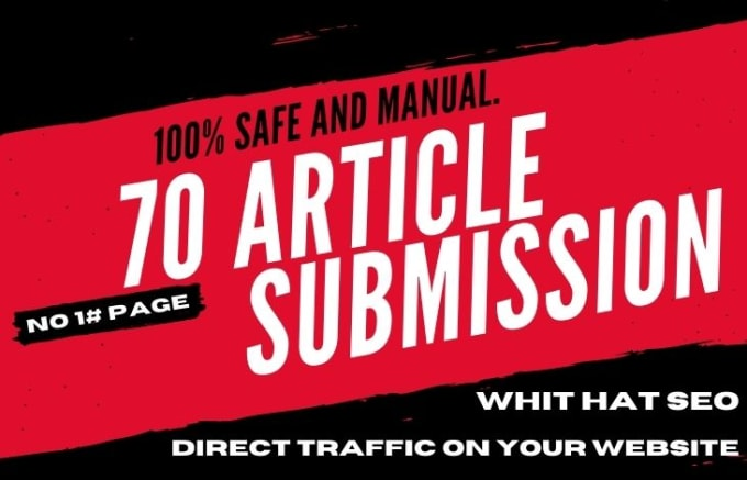 I will create 27 unique article submission with high quality da pa