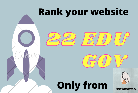 I will provide powerful 22 Edu/Gov service 60+Domain authority