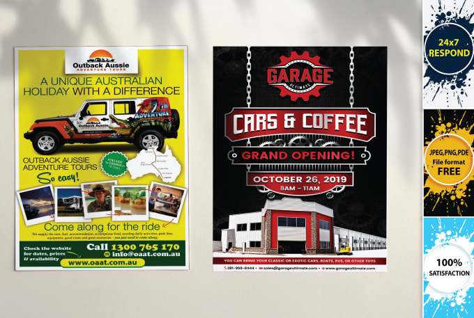 I will design flyer, poster or postcard in 4 hours at your price