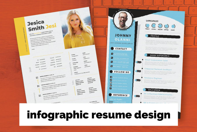 I will design a professional infographic resume CV design under 24h