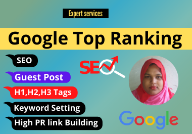 I will do website in google top ranking with first page and SEO