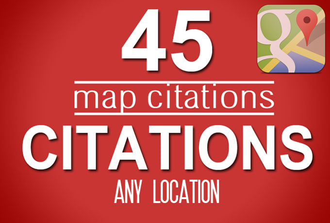 I will create 45 map citations for google local page & business listing