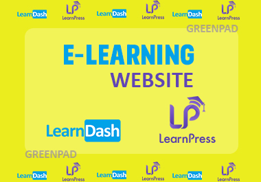 I will create elearning website and educational course website