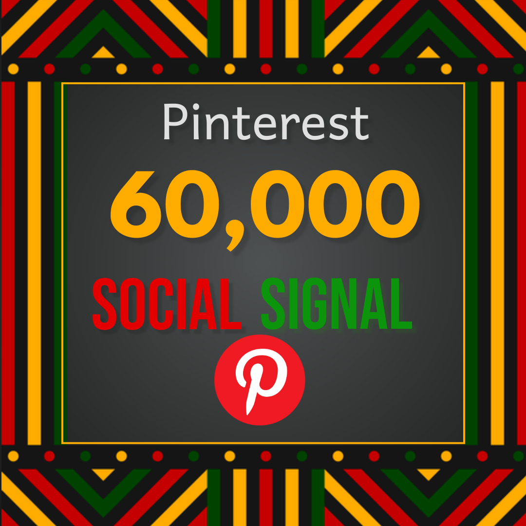 Best offer 60,000 Pinterest social signal Share manually Service HQ SEO Backlink Boost Google Rank