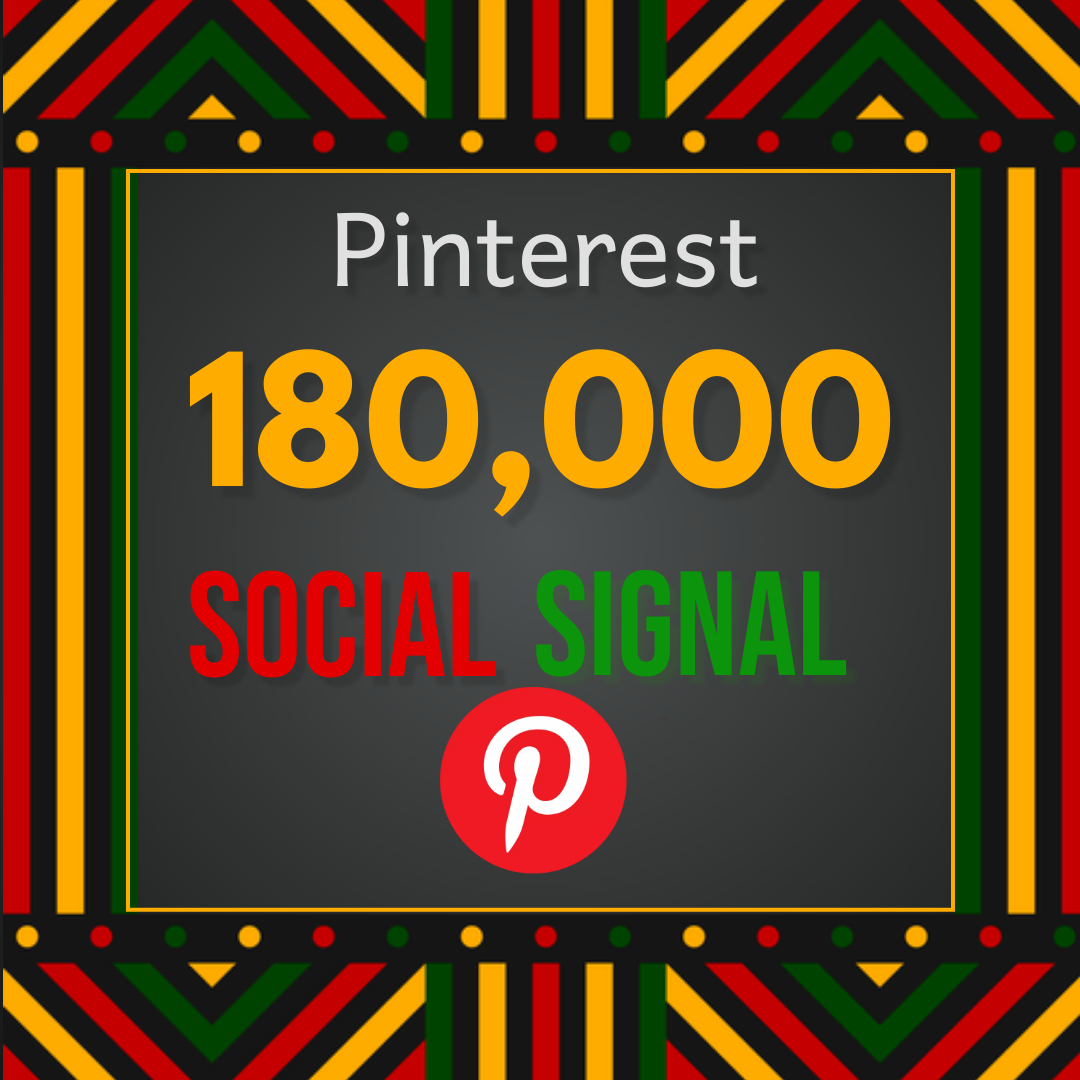 Best offer 180,000 Pinterest social signal Share manually Service HQ SEO Backlink Boost Google Rank