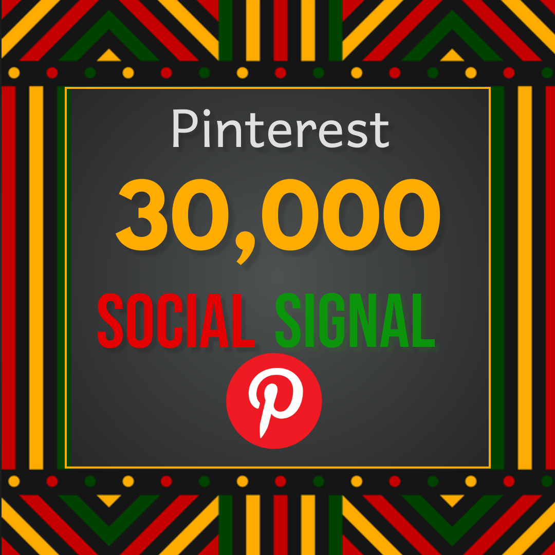 Best offer 30,000 Pinterest social signal Share manually Service HQ SEO Backlink Boost Google Rank