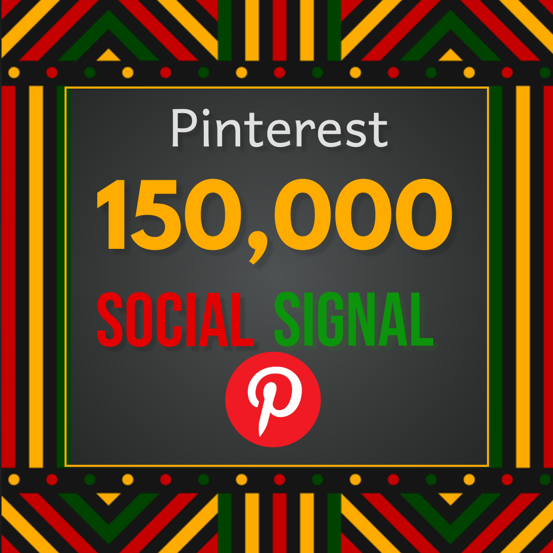 Best offer 150,000 Pinterest social signal Share manually Service HQ SEO Backlink Boost Google Rank