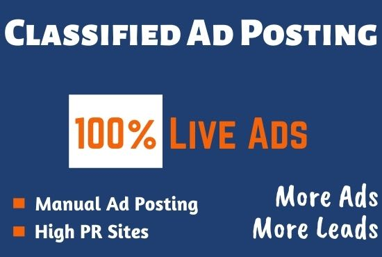 Submit 100+ Classified AD Posting Worldwide