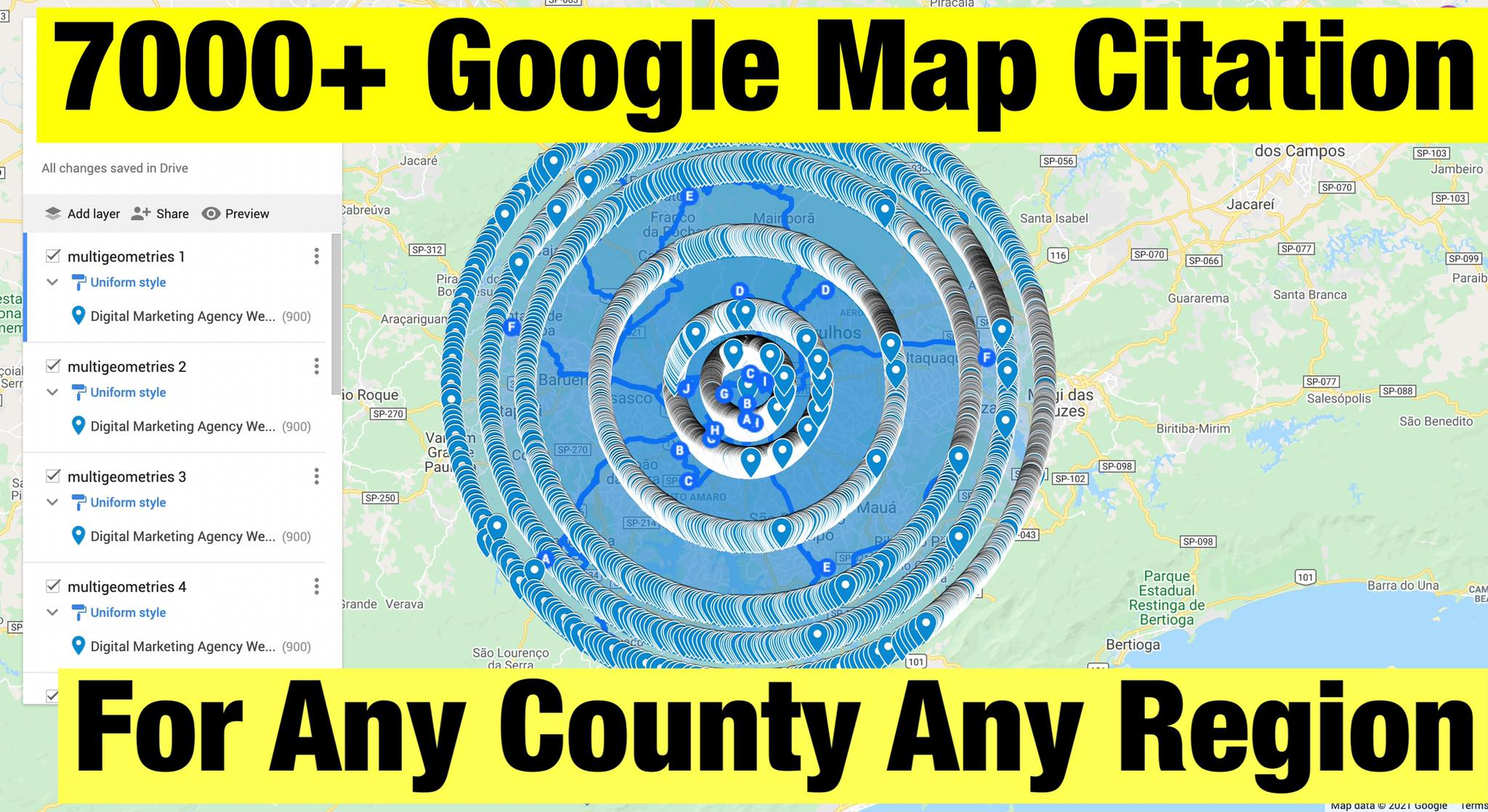 DO 7000+ google maps citations for gmb ranking and local SEO