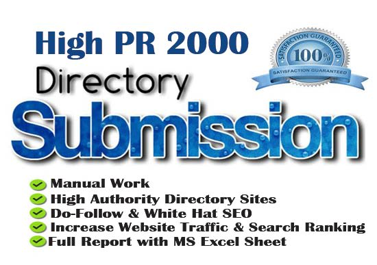 I will create 2000 directory submission SEO backlinks