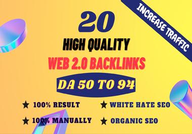20+ Permanent PBN Backlinks Web2.0 With High TF CF DA 50+ PA Do-follow Links