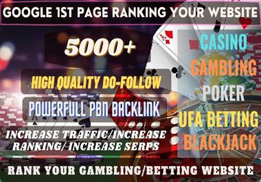 5000+ High quality Homepage Backlink Casino,  Poker,  Gambling DA50+ PA 40+ DOFOLLOW