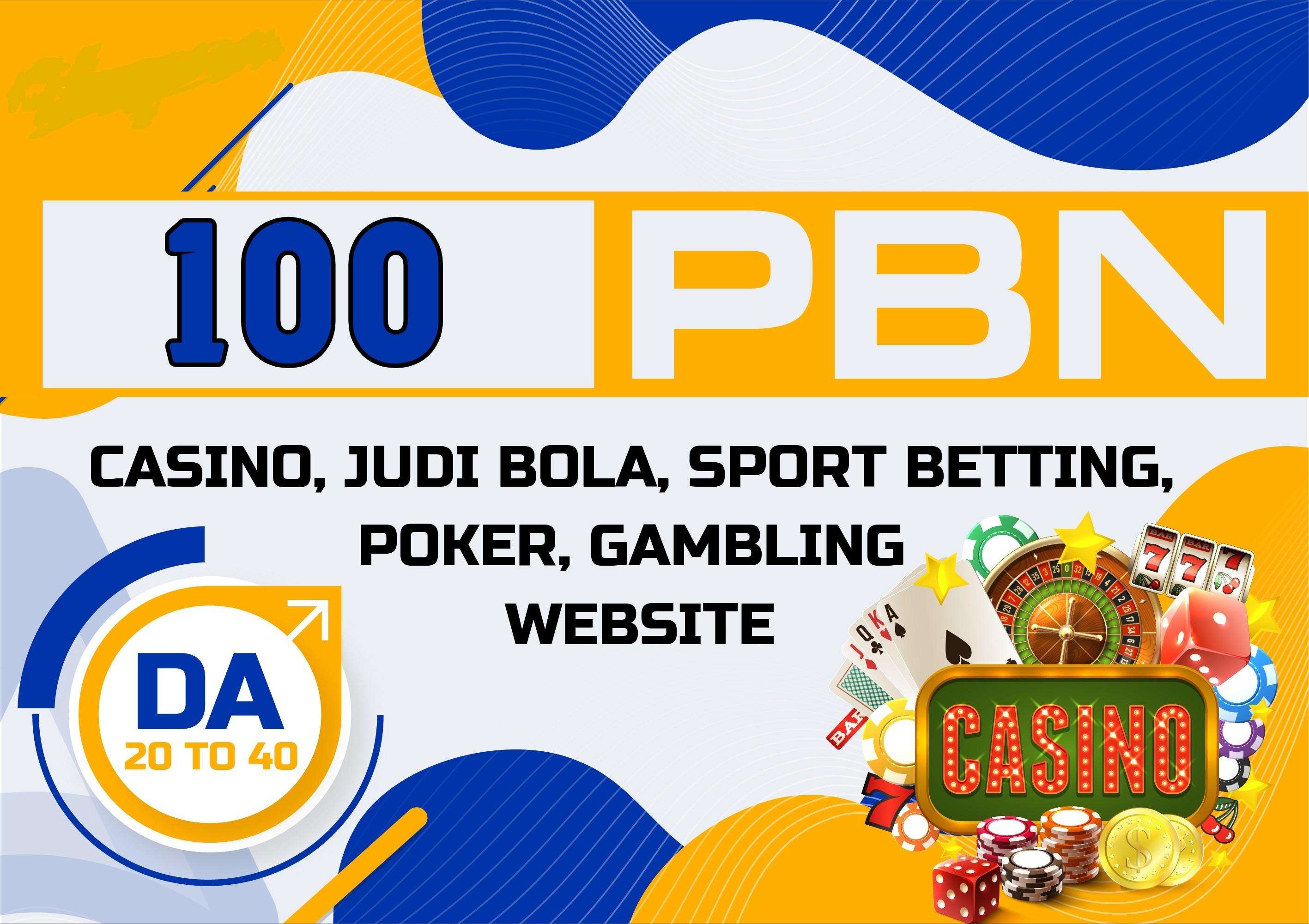100 HomePage PBN'S Casino Sport Betting UFABET Website Dofollow Backlinks's PA 20+