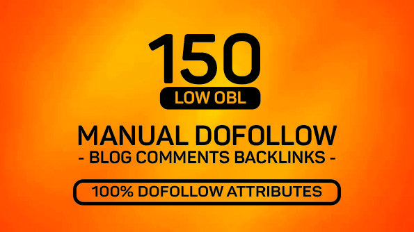 150 MANUAL Dofollow DA 20+ Blog comments Backlinks