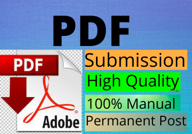 26 PDF submission manually High DA low spam score manually links building