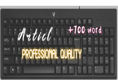 I will write professional quality article more than 700 word for you