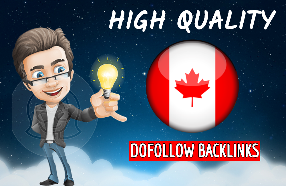 I will build high quality dofollow Canadian backlinks for Canada local seo