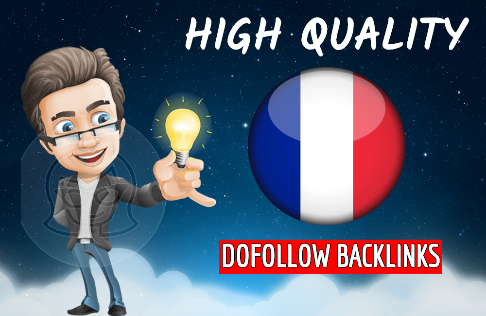 I will build high quality french backlinks for France local seo