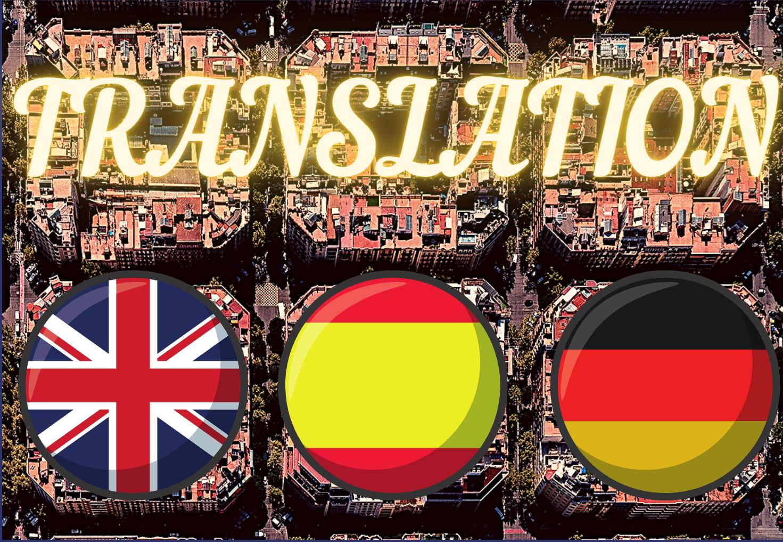 Translator for English / Spanish / German