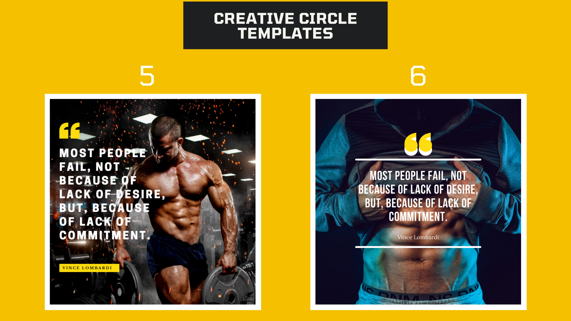 I will design 25 motivational fitness quotes with your logo