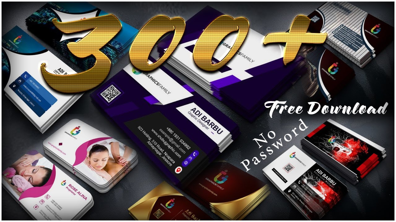 I will provide unique and professional 300+ business card psd templates