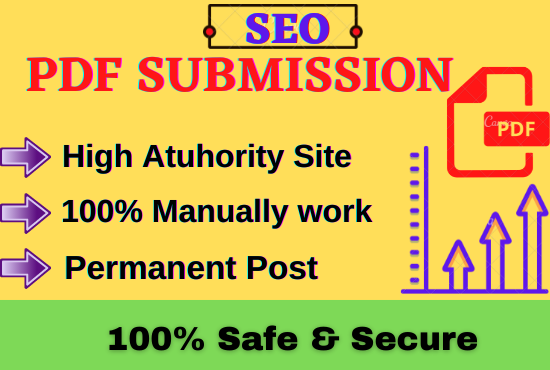 I will do 50 PDF file submission on high authority document sharing sites