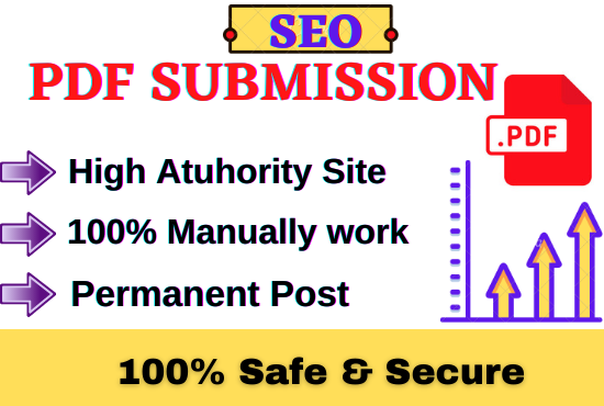 I will do 30 PDF submission on top document sharing sites