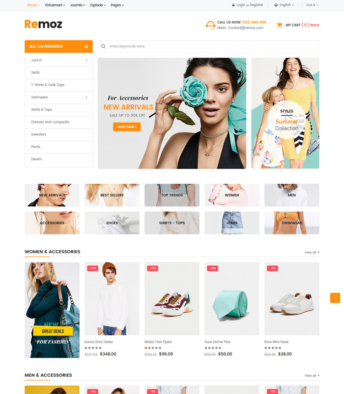 Very Good and simple E-COMMERCE web Template for your need