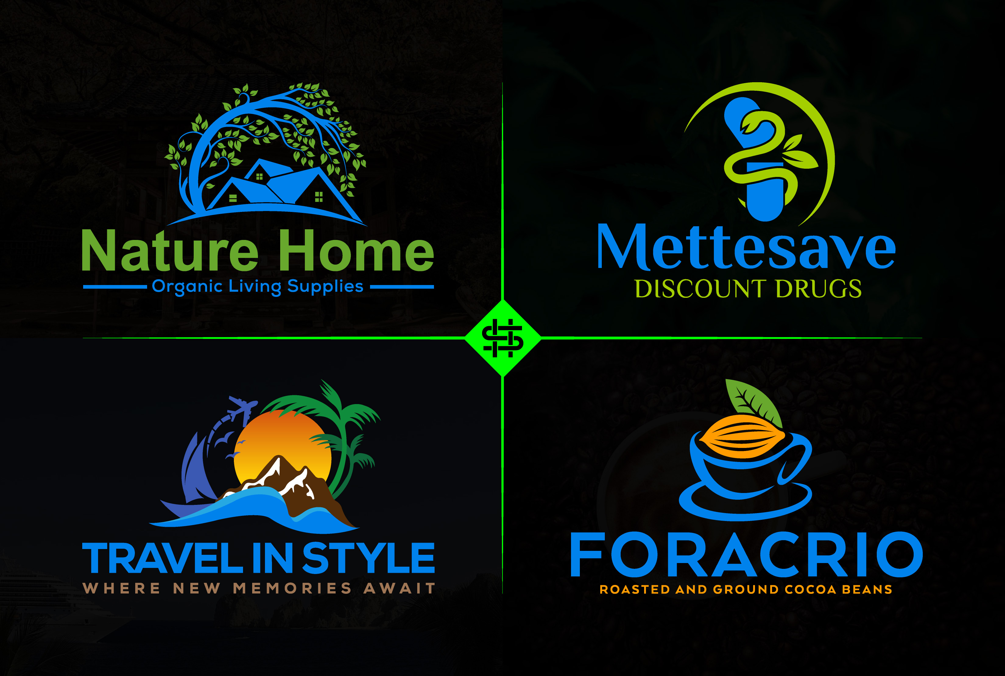 I will design professional modern minimalist business logo for your brand