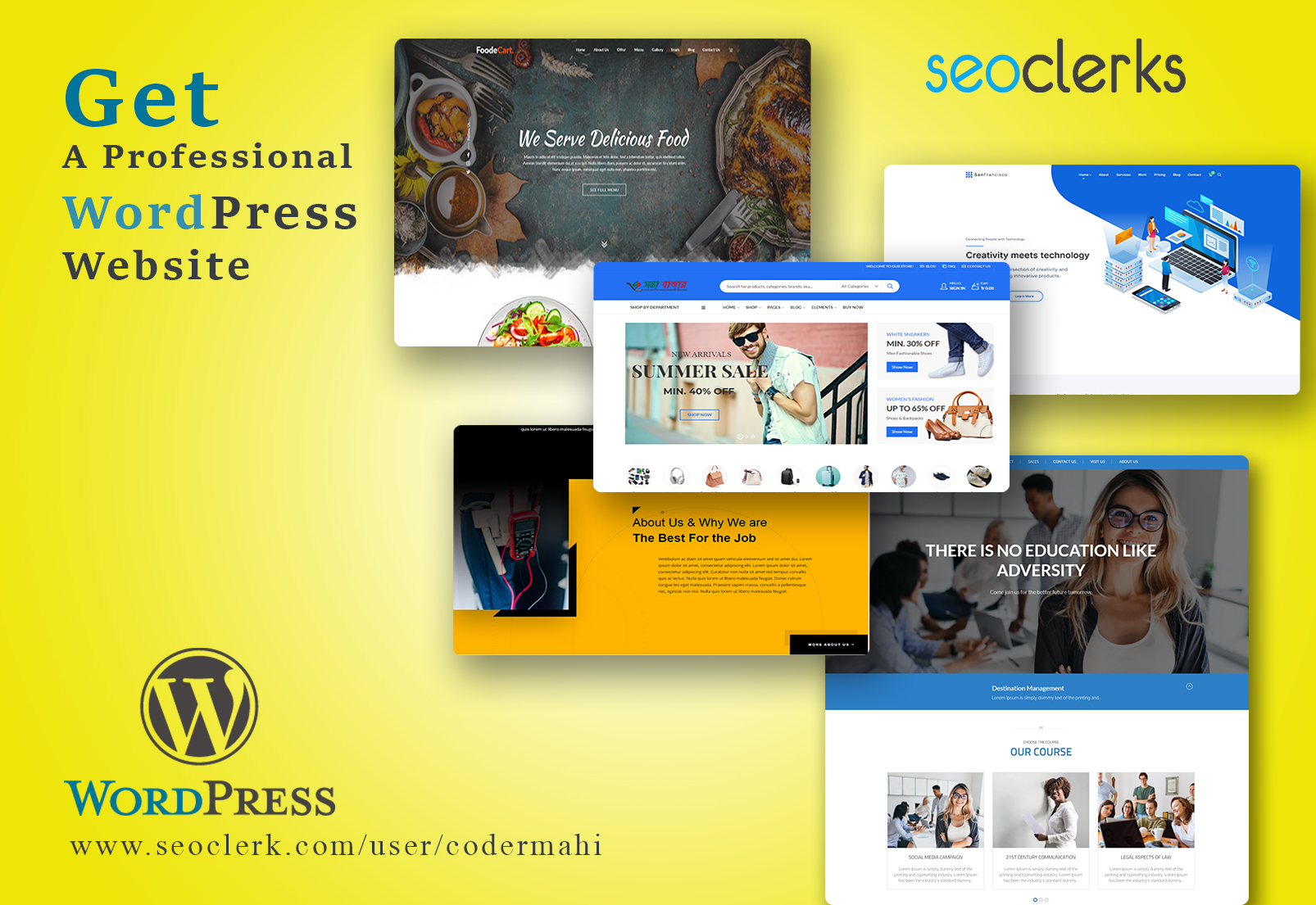 I will install wordpress theme setup demo and do customization