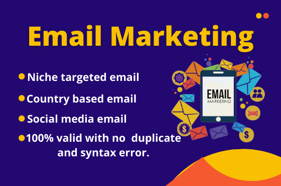 I will collect up to 5k niche targeted email for you