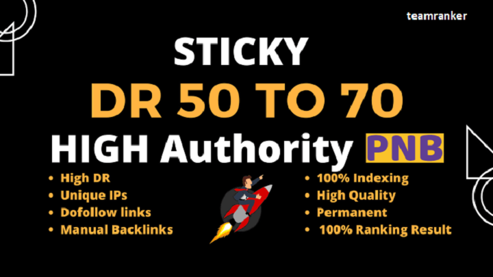 rank on google with 50 off page SEO DR 50+ link building backlinks