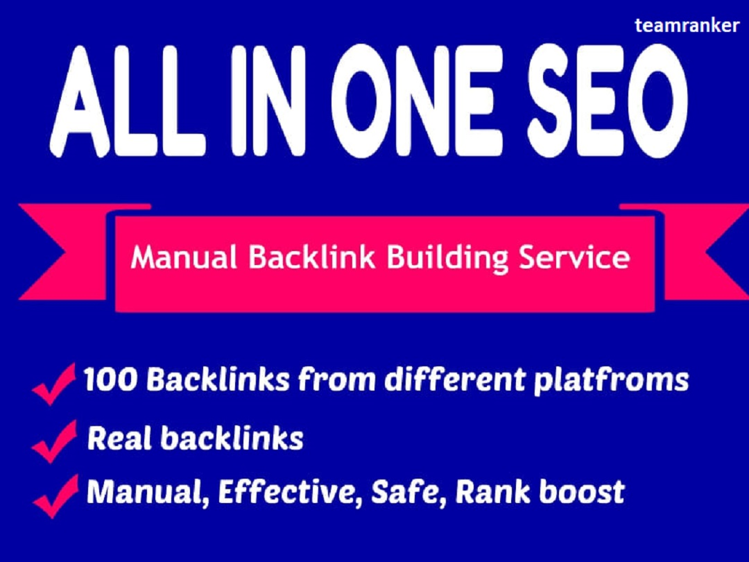 Build 80 all in one manual SEO link building package