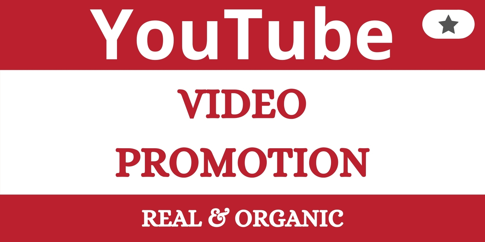 Organic YouTube video promotion service
