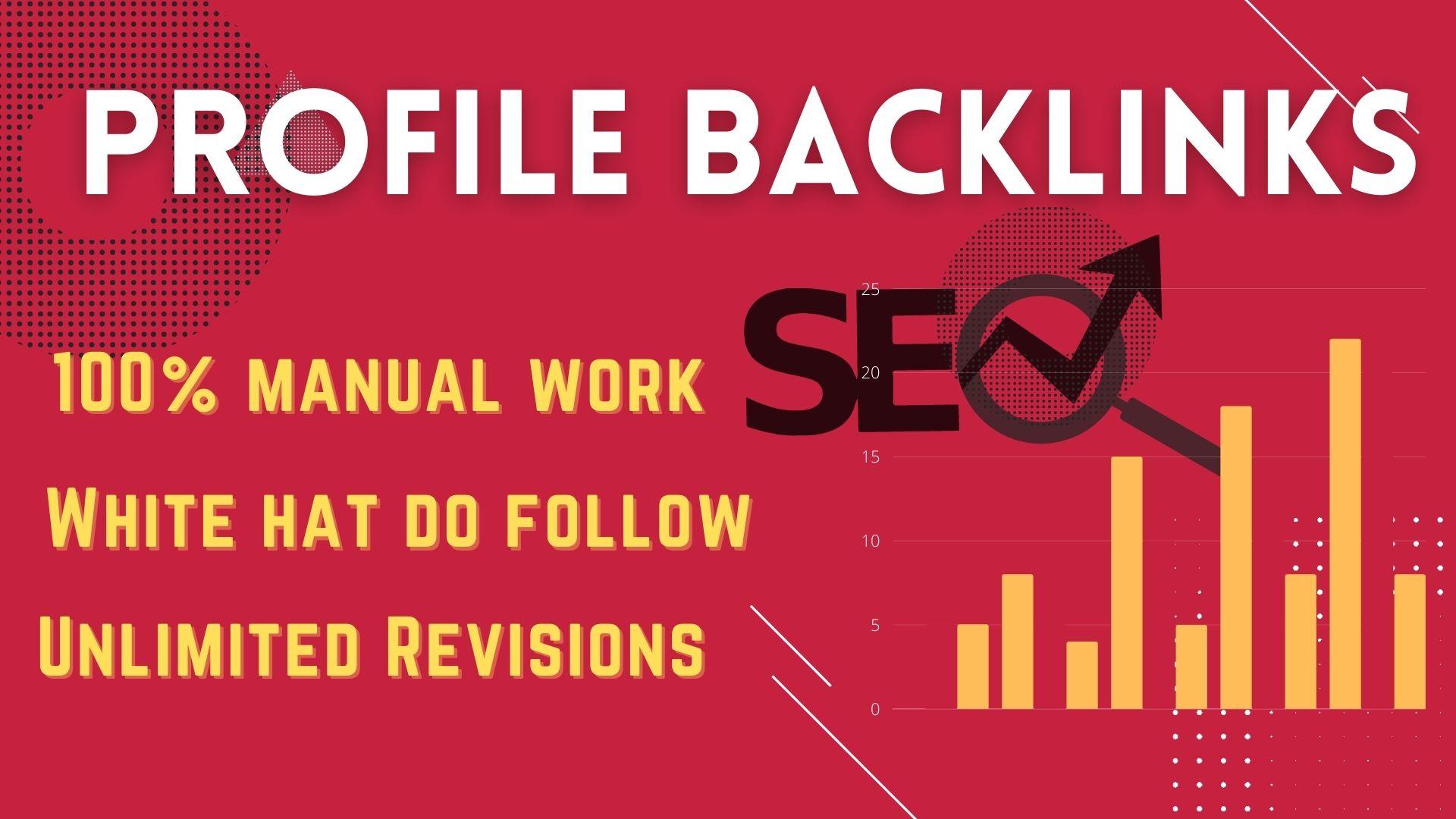 I will rank your website by providing SEO dofollow profile backlinks