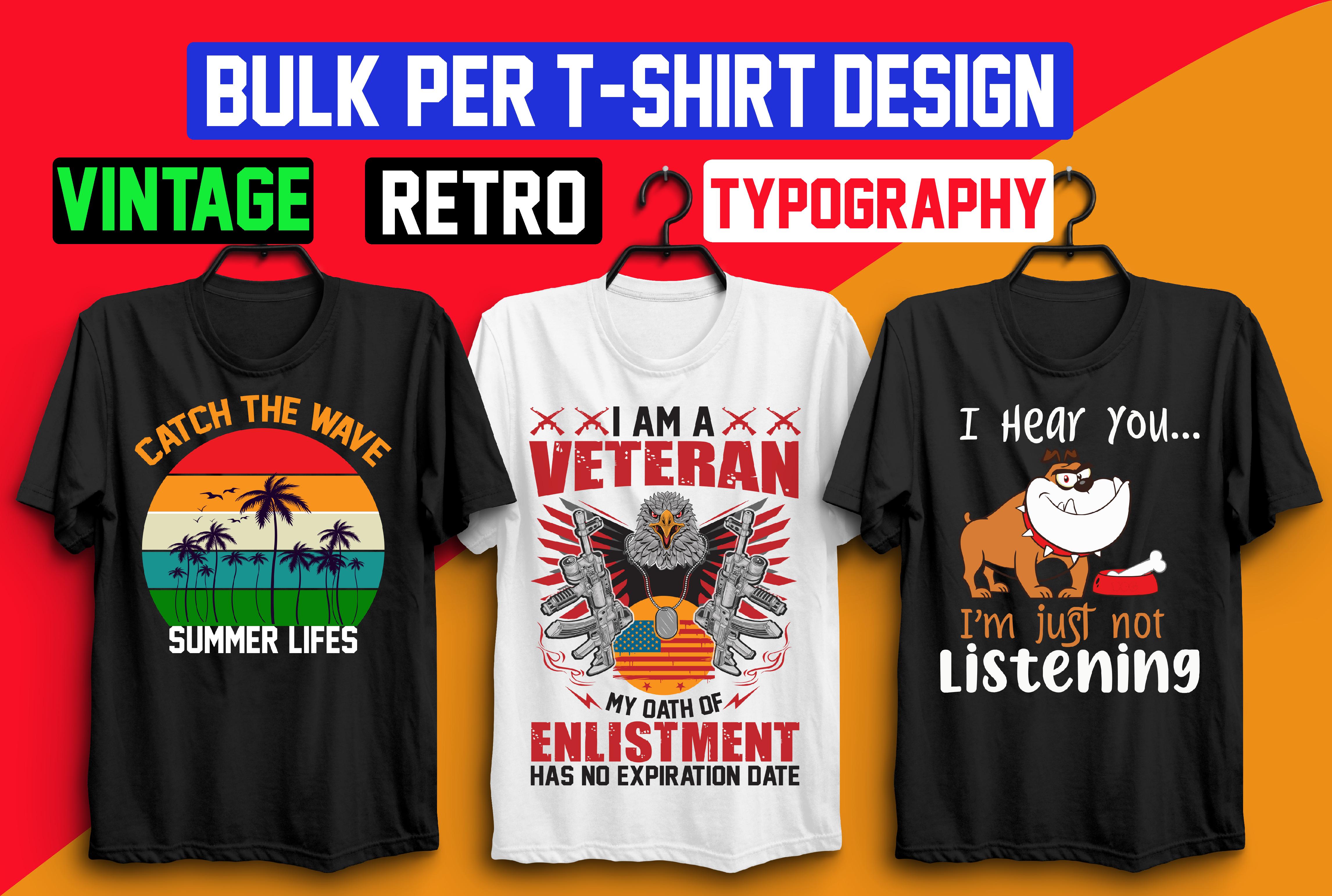 I will create custom typography t shirt design