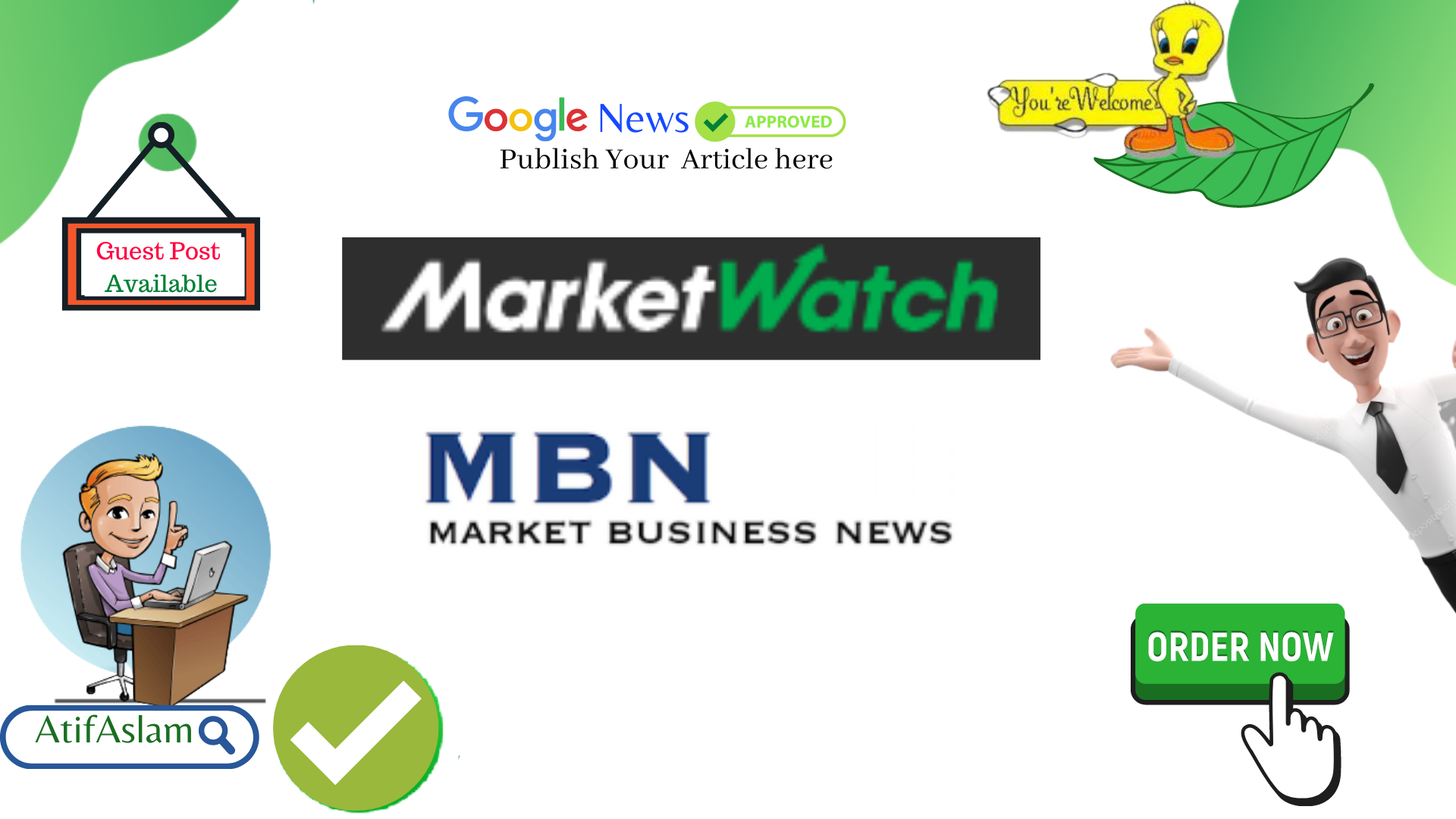 I will Publish Your Article on Marketwatch