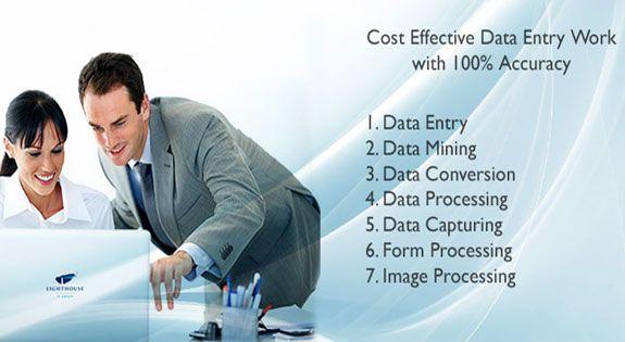 I do data entry & data processing.