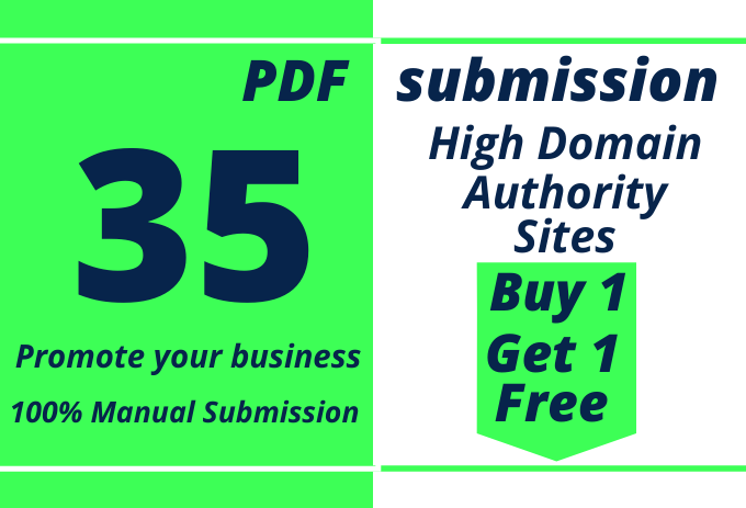 I will do manual PDF submission to 35 document sharing sites