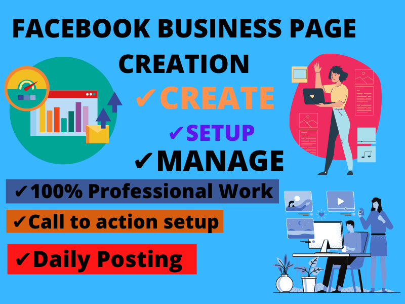 I will do impressive facebook business page and social media