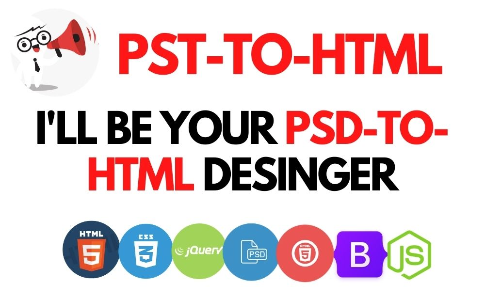 I will convert 2 pages psd to html with responsive bootstrap within 2 days.