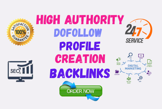 I will provide 100 High authority SEO Profile creation Link-building to quickly rank your website