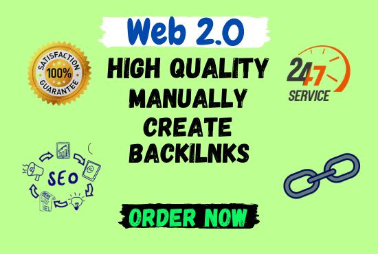 I Will manually build high authority 40+ web2.0 backlinks