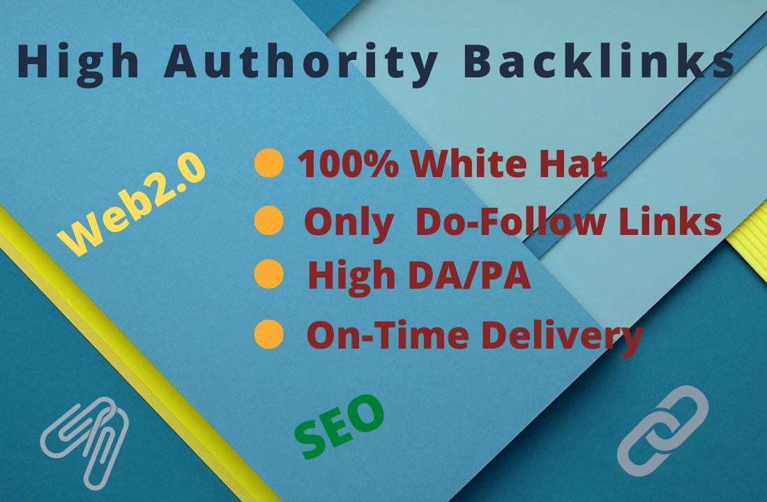 I will create 20 high authority do follow web 2.0 backlinks.
