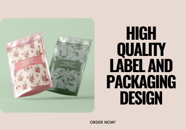 I will design 3d high quality label and packaging designs for your business