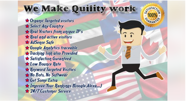 I Will Drive 100,000+ Real Organic Targeted Web Traffic