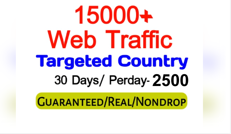 Get 150,000+ Country Targeted Organic Web Traffic For Your Website,  per day-4000,  5000 for 30 days